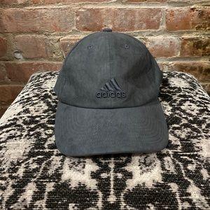 NEW adidas Women Saturday Dark Grey Suede Cap